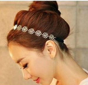 E1098 Trendy Hollow rose hair band