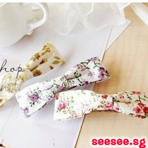 E57 Fabric Floral Hair Pins