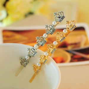 G85 Crystal 5 Crown Hairpin