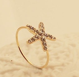 C345 Stylish Starfish Rings