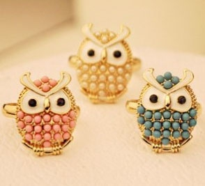 C351 Stylish Owl Rings