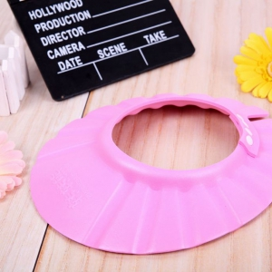 Adjustable Baby shampoo hat pink colour