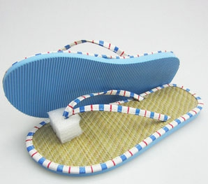 Ladies Open Toe Straw Mat Slippers
