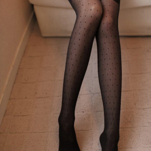 Sexy polka dots lace stockings