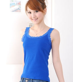 8810 Side lace cotton camisole