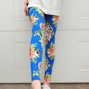 Floral stretchable cotton leggings