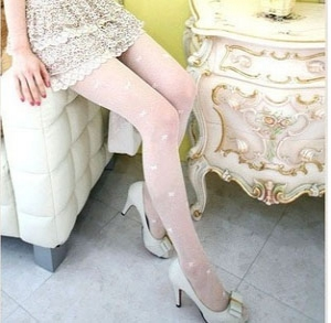 Stylish Thigh High Butterfly Lace Pattern Pantyhose Stocking