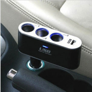 3 in 1 car USB cigarette lighter charger