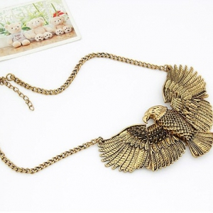 A583  Gold Eagle Necklace