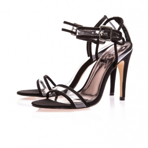 Special offer- Defective Plastic Black Transparent Heels
