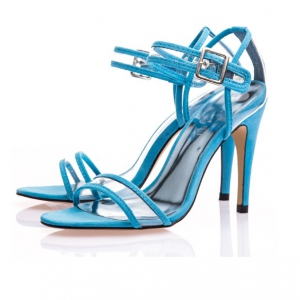 Special offer -Defective Plastic Blue Transparent Heels