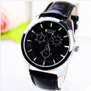 165734 Casual leather watch