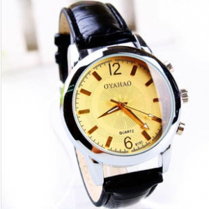 165720 Simple design Leather watch