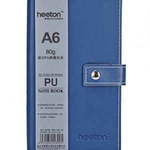 Button PU Skin Notebook