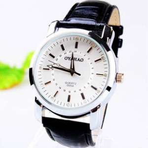 164246 Casual leather watch