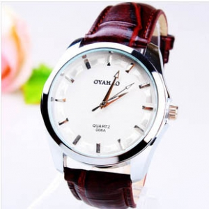 164270 Simple design Leather watch