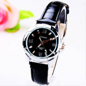 164343 Trendy leather watch