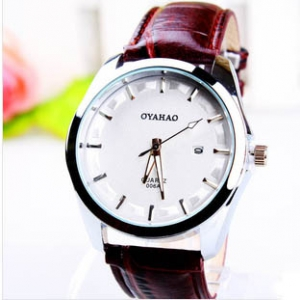 165727 Trendy leather watch