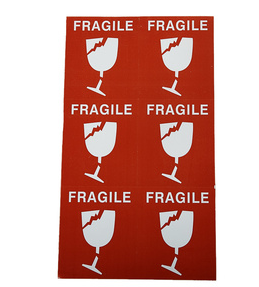 Fragile Label Sticker For Shipping 45pc/package (package)