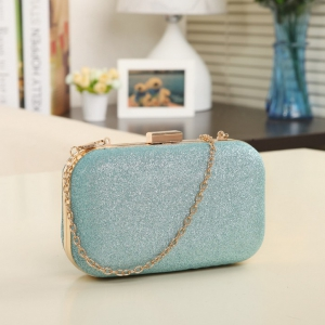 Candy-colored small buckle lock clutch bag
