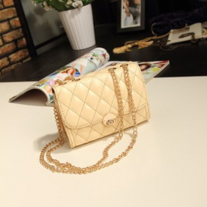 Candy-Coloured Quilted patent leather chain bag