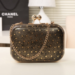Shiny gold fabric mini evening bag clutch bag