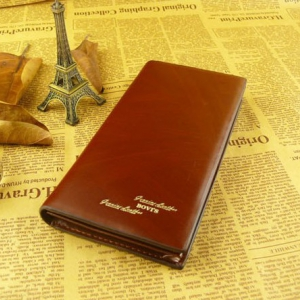 Mens leather wallet (Brown)