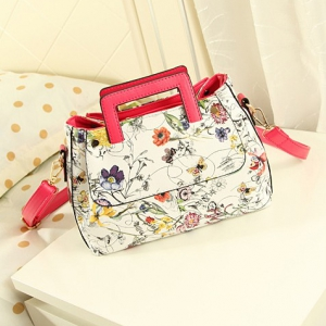 Retro Flowers shoulder OL fashion bag (Hot Pink)