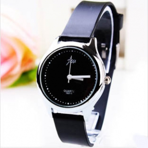 166517 Trendy simple design leather watch