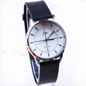158438 Casual leather watch