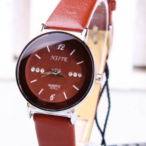 Casual leather watch