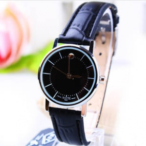 166431  Trendy simple design leather watch