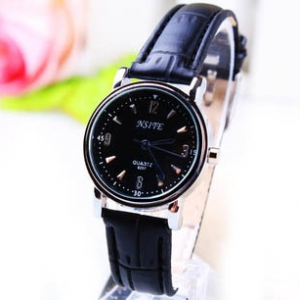 166463  Trendy simple design leather watch