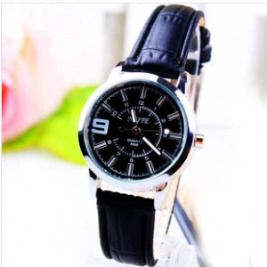 166399  Casual leather belt watch