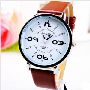 166390  Trendy leather watch
