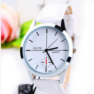 165387 Trendy simple design leather watch