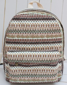 Printed Canvas back pack bag