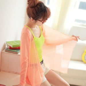 Neon colours long sleeve cardigan