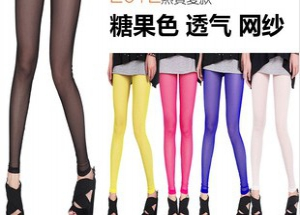 903 Candy-colored mesh leggings