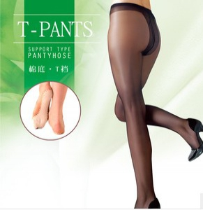 6255 Silky cotton non-slip foot Stockings