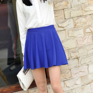 K109 Candy Coloured Flare Pleated skirt