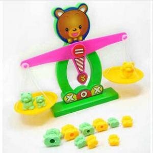 经典早教启蒙小熊数字天平秤/儿童益智玩具