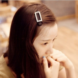 G70  Rectangle design crystal Hair Pin
