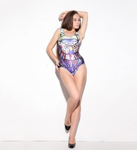One-Piece Printed Swim Wear