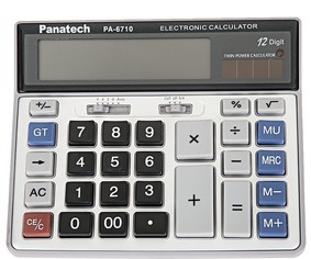 PA-6710  Solar Calculator With Big Number Pads