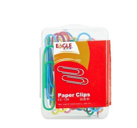 EG-10D  Colourful Paper Clips (BOX)
