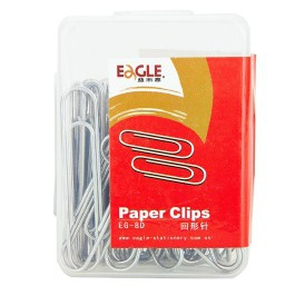 Silver Nikel Plated Paper Clips EG-8D 50mm