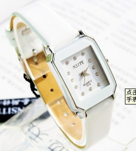 Trendy leather watch