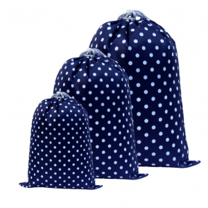3pcOxford Waterproof  Drawstring Travel Pouch