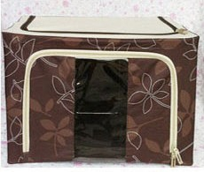 66L Floral Print Foldable Storage Box With See Through Panel
